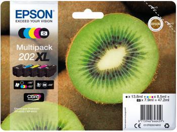 Epson Blekkpatron Pakke No.202XL 2xSort/3xFarge (13.8ml/7.9ml/3x8.5ml) C13T02G74010 (Kan sendes i brev)