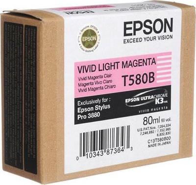 Epson Blekkpatron T580B Lys Magenta (80ml) C13T580B00 (Kan sendes i brev)