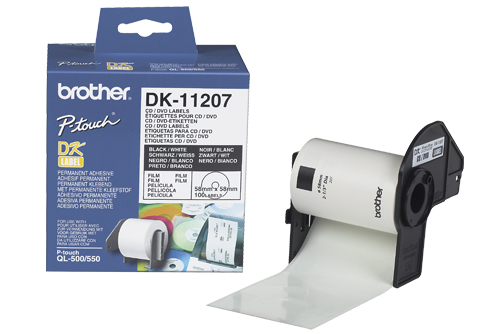 Brother CD/DVD Etikett 58mm (100stk) DK-11207 (Kan sendes i brev)