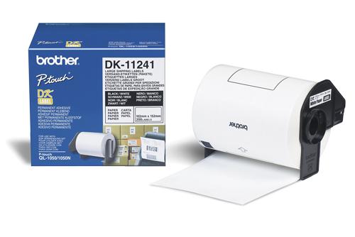 Brother Leveranse Etikett Sort på Hvit 102x152mm DK-11241