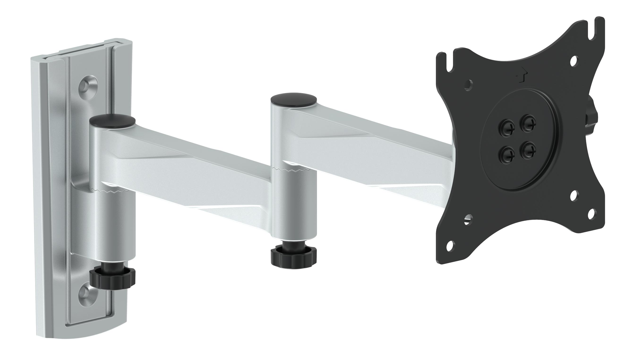 arm 530 epzi wall mount for tv monitor 13 27 3led vesa 100 silver black. Black Bedroom Furniture Sets. Home Design Ideas