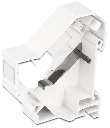 DeLOCK Keystone Mounting for DIN rail, shielded, white 86232 (Kan sendes i brev)