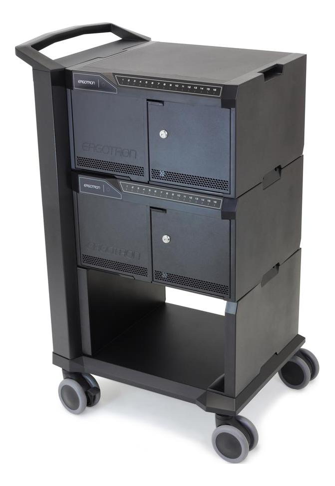 Ergotron Tablet Trolley-4 casters-Steel/Alu, 32 devices, black DM32-1004-2