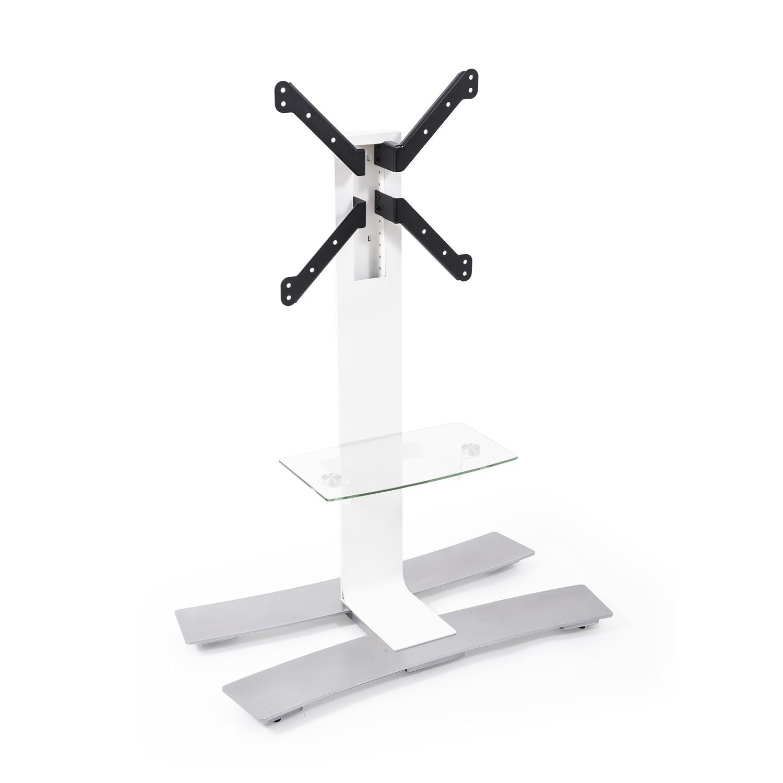 Erard ERAD WILL 1050 TV floor stand on wheels, 1050mm high, shelf, white 039021