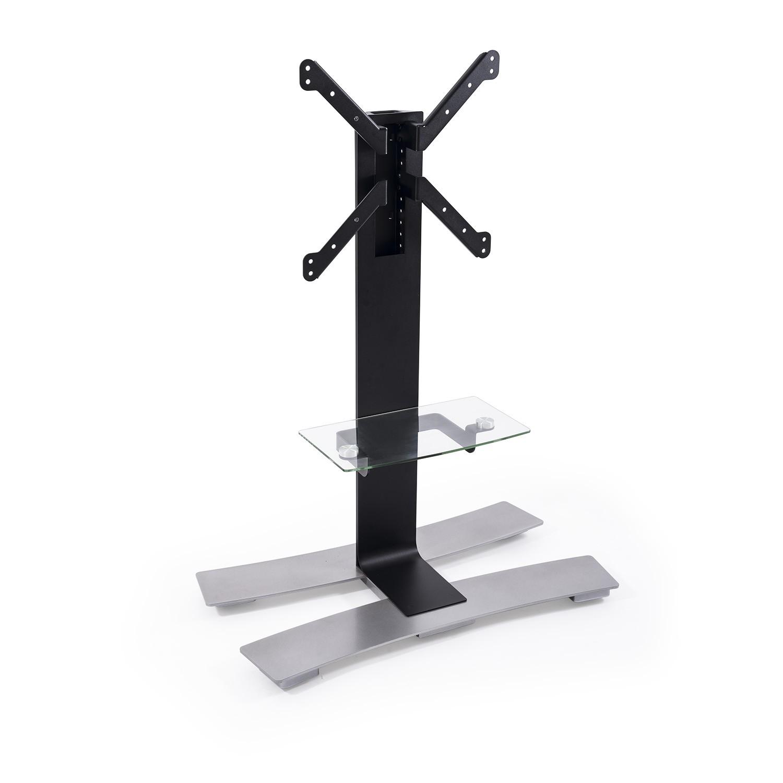 Erard ERAD WILL 1050 TV floor stand on wheels, 1050mm high, shelf, black 039031