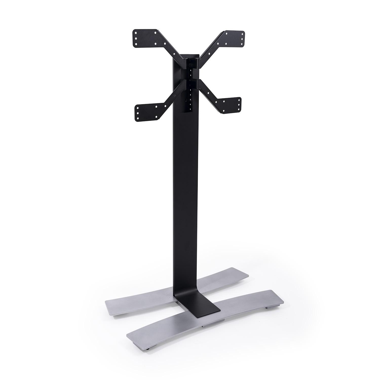 Erard ERAD WILL 1400XL TV floor stand on wheels, 1400mm high, black 039050