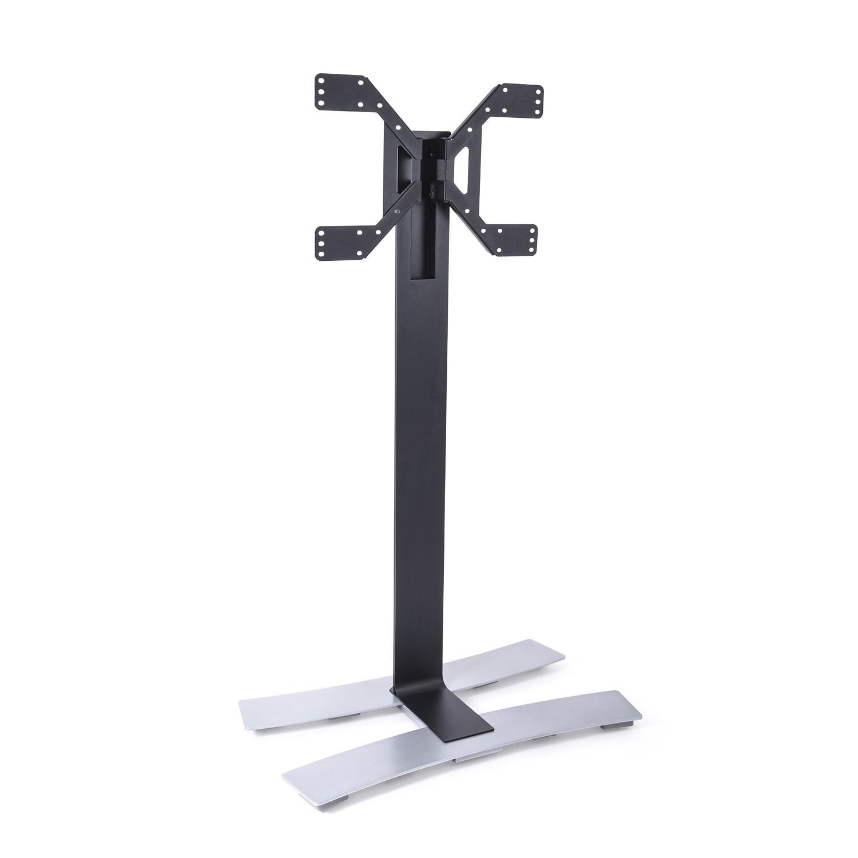 Erard ERAD WILL 1600XL TV floor stand on wheels, 1600mm high, black 039070
