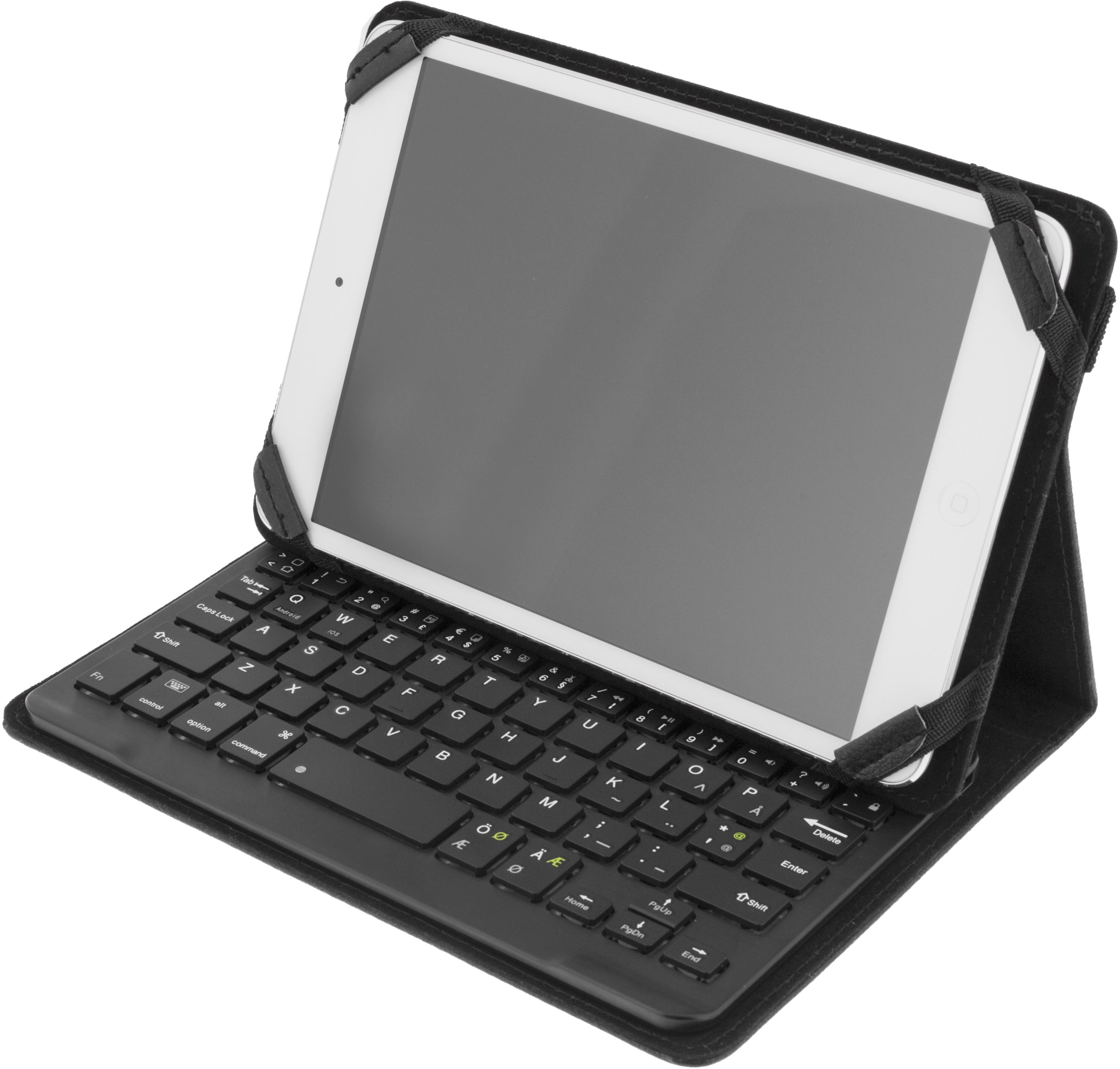 Deltaco deksel og Bluetooth tastatur for 7