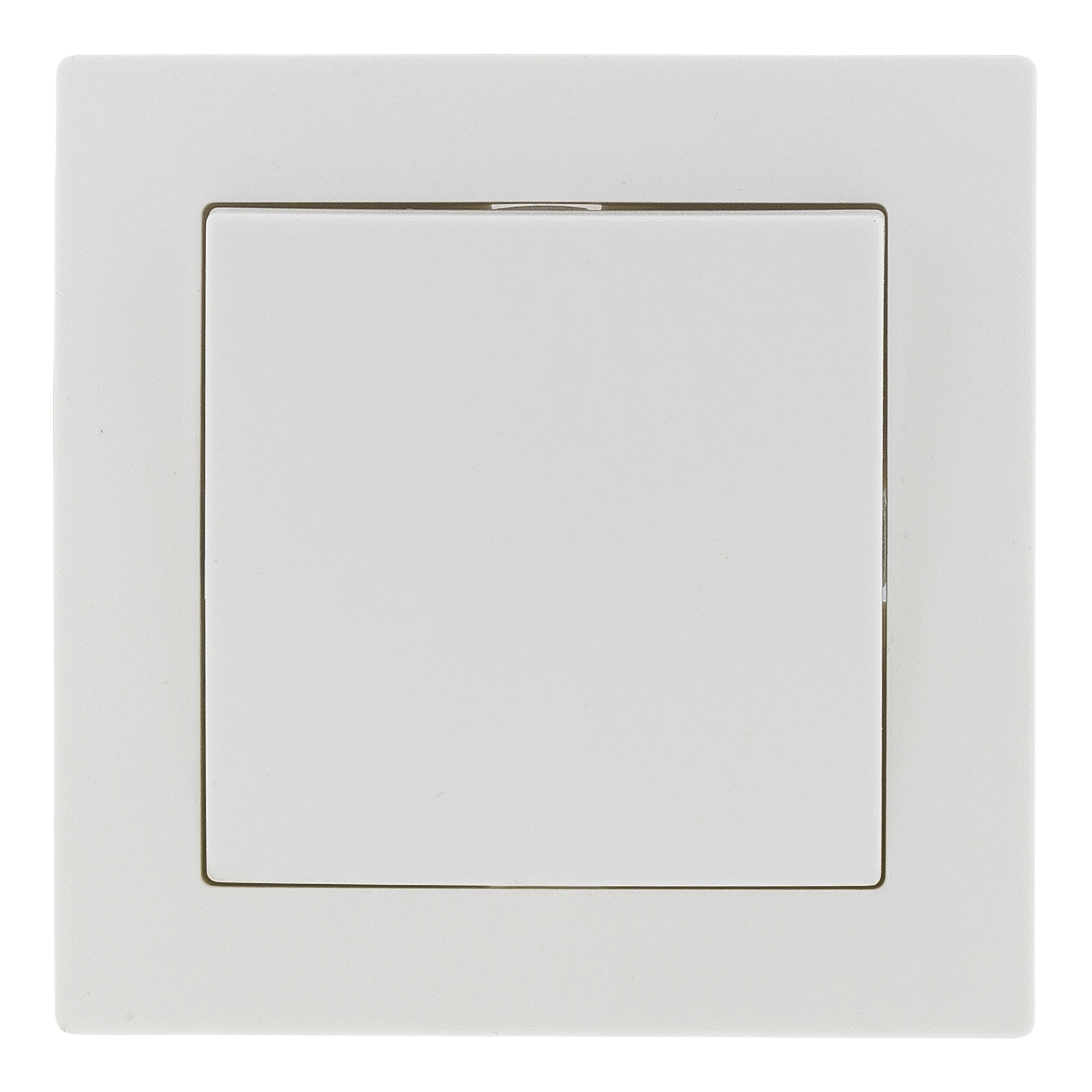 Epzi switch with one button, for flush mounting, 1 pole, white H1-C110M (Kan sendes i brev)