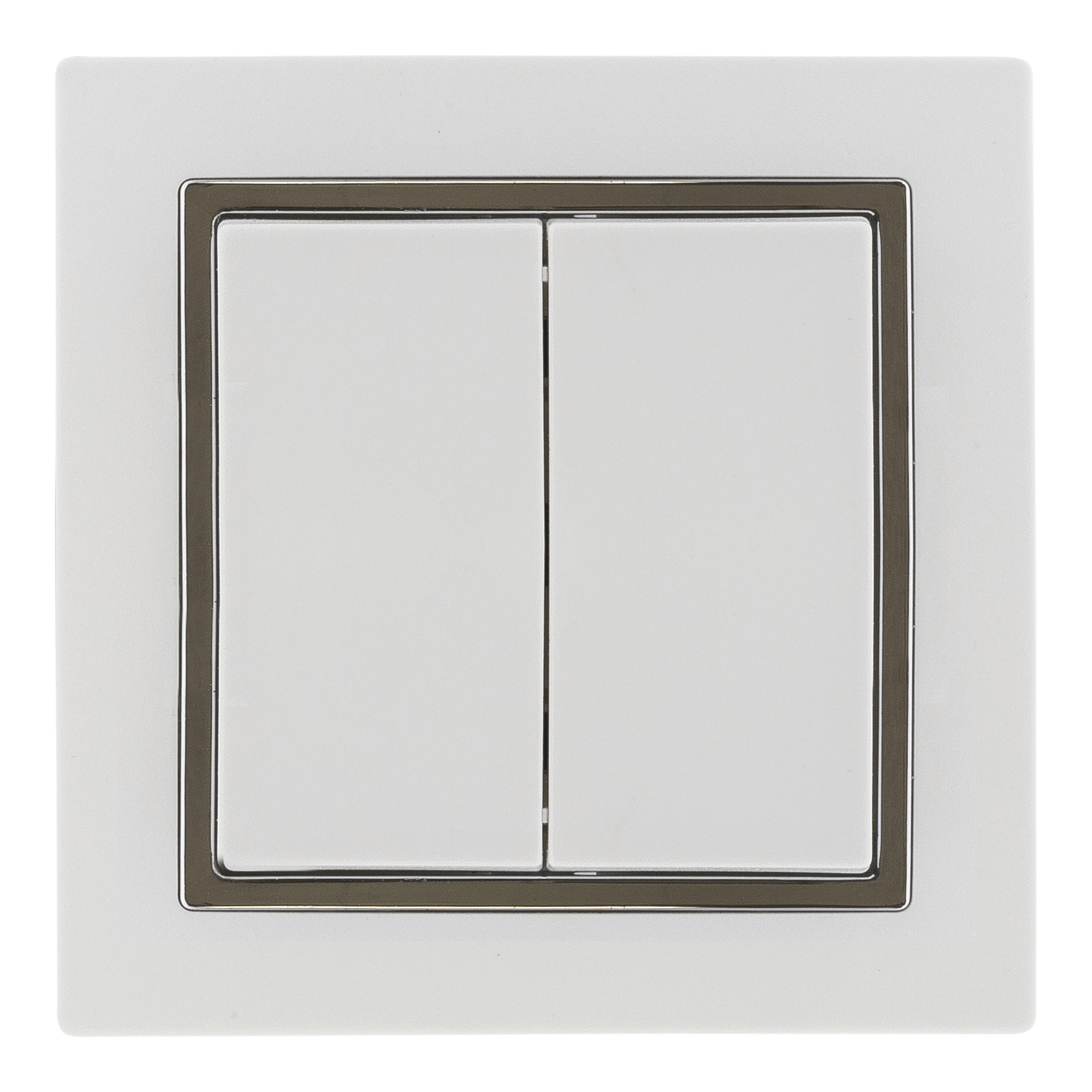 Epzi switch with two buttons, flush mount, cross-connection, white H1-H210M (Kan sendes i brev)