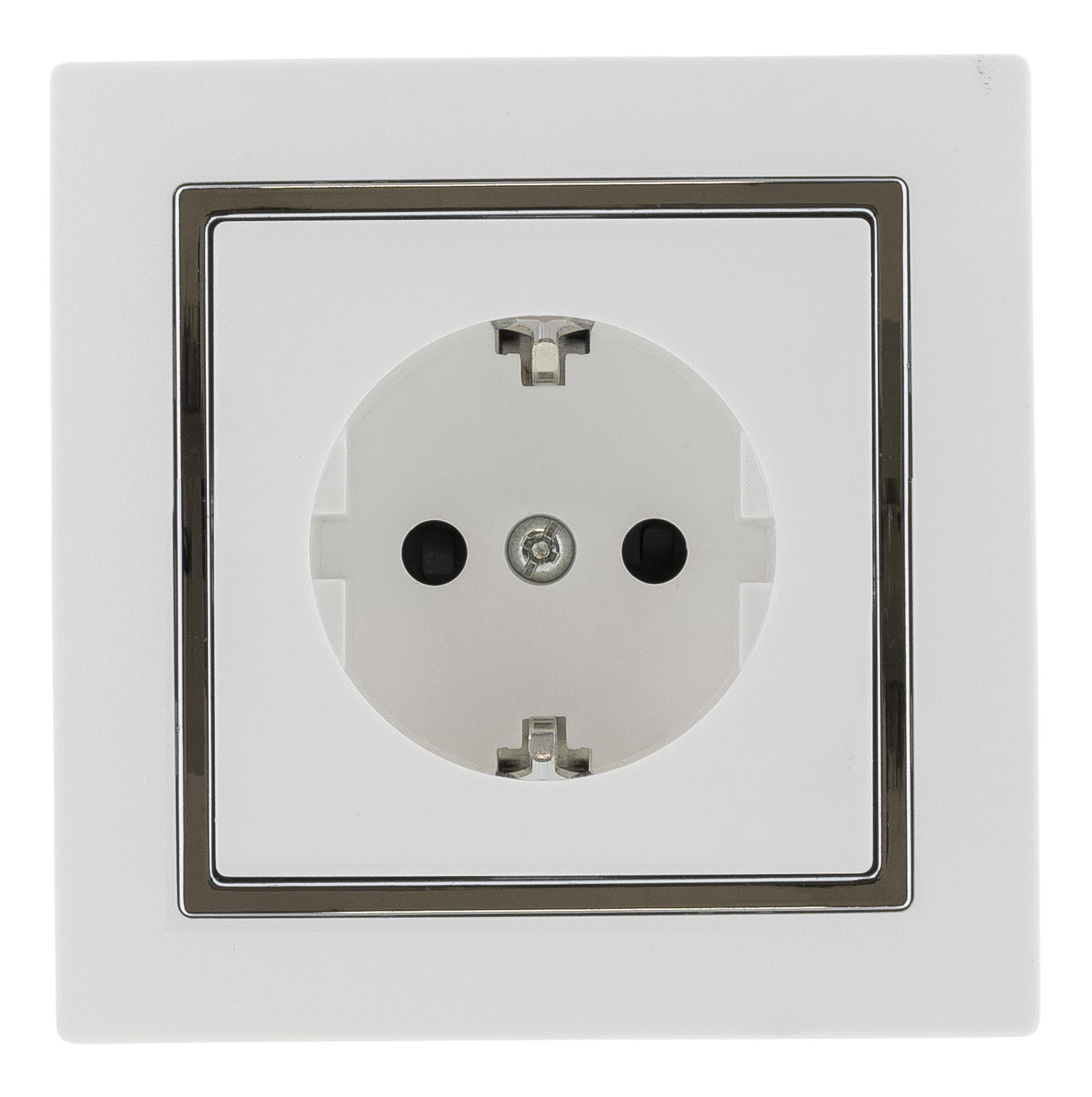 Epzi one-way socket for flush mounting in appliance box, white H1-H51GM (Kan sendes i brev)