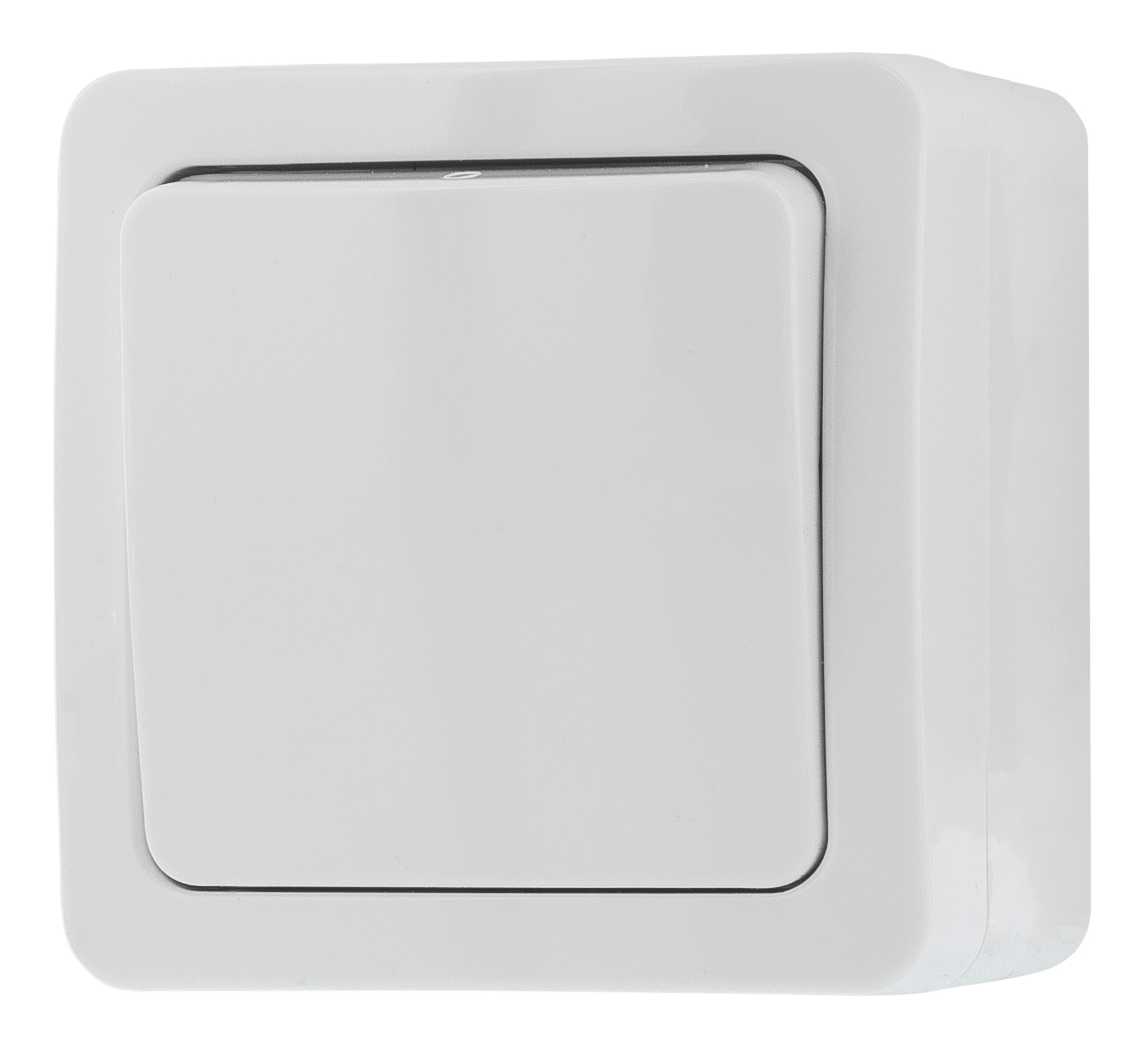 Epzi switch with a button, for surface mounting, IP54, 1 pole, white H2-A110M (Kan sendes i brev)