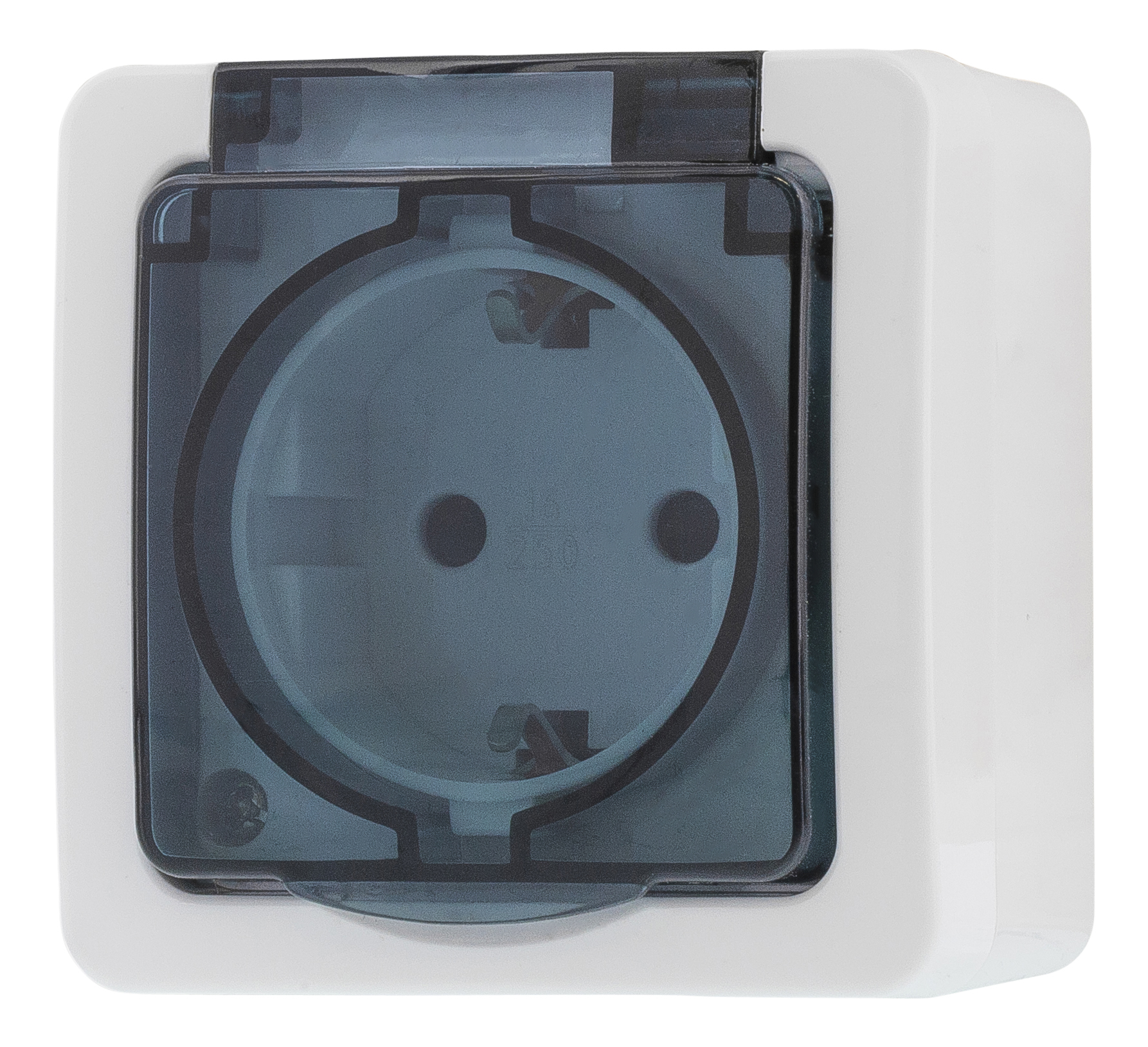 Epzi 1-way outlet with hinged lid for surface mounting, IP54, white H2-A51GM (Kan sendes i brev)
