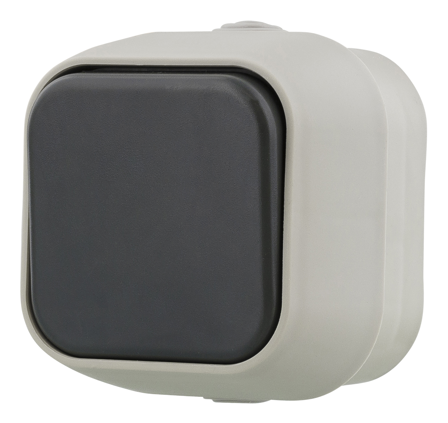 Epzi switch with a button, for surface mounting, IP54, 1 pole, gray H2-B110M (Kan sendes i brev)