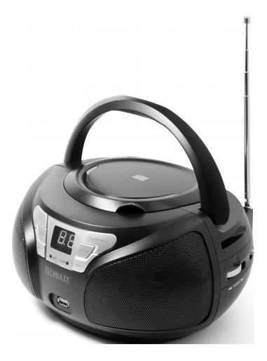 Technaxx Portable Boombox BT-X38 black TEC-4762