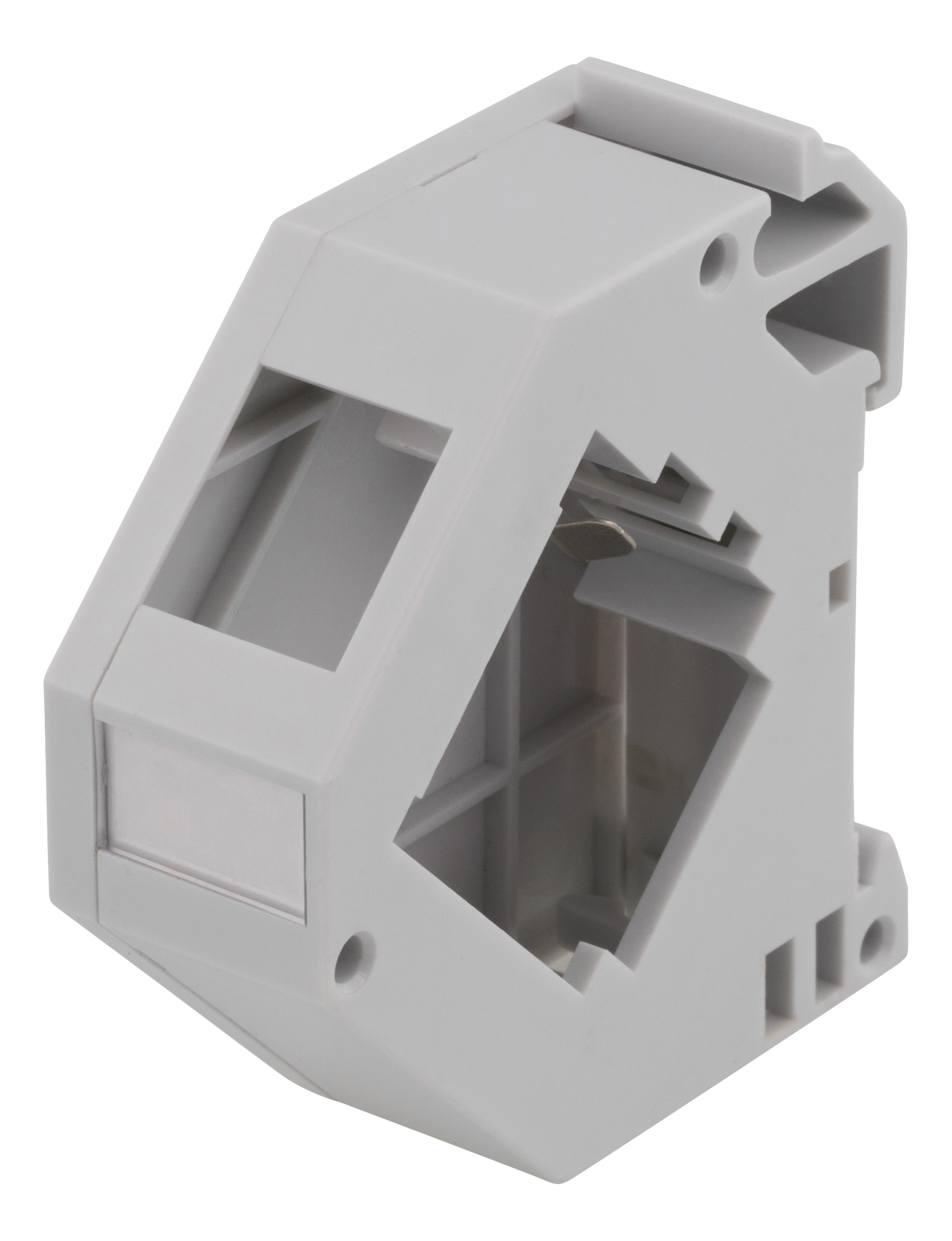 Deltaco Keystone mounting for DIN rail, shielded, label, gray MD-122