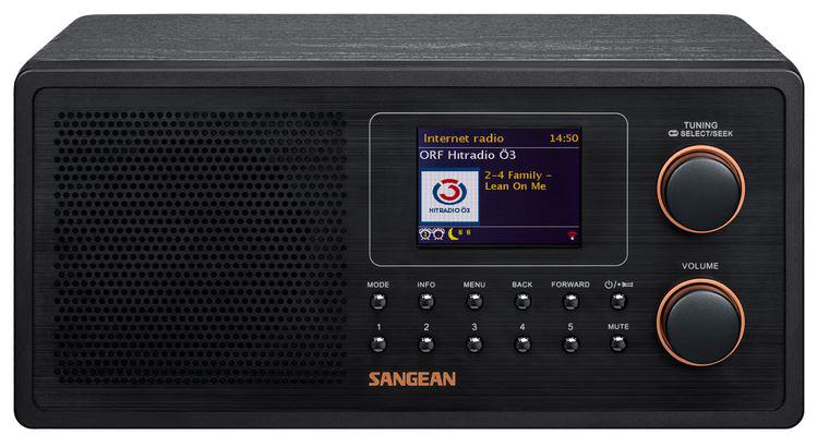 Sangean Digital Radio, FM/DAB+, Internet Radio, Spotify, Undok, WiFi, A500370