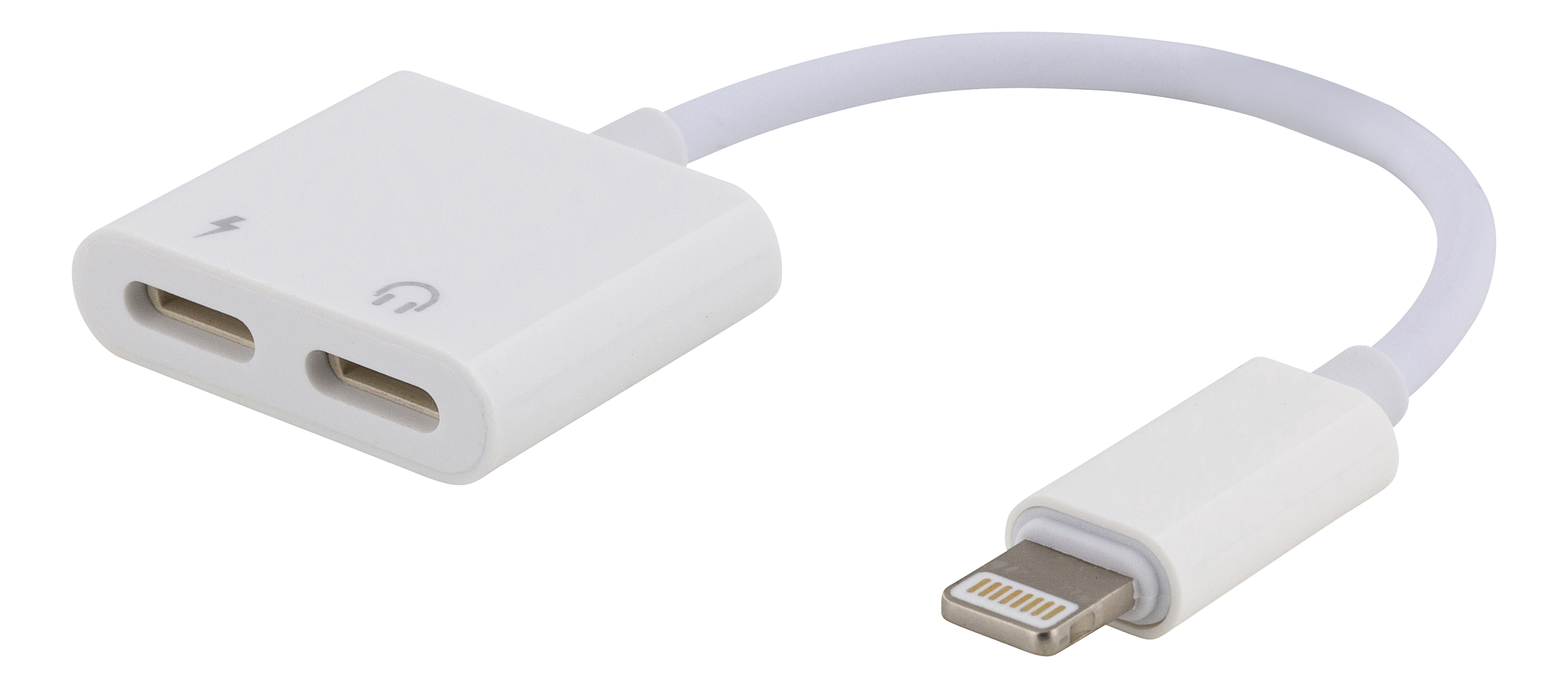 EPZI Lightning to Dual Lightning adapter, 0.1m, white WE-120