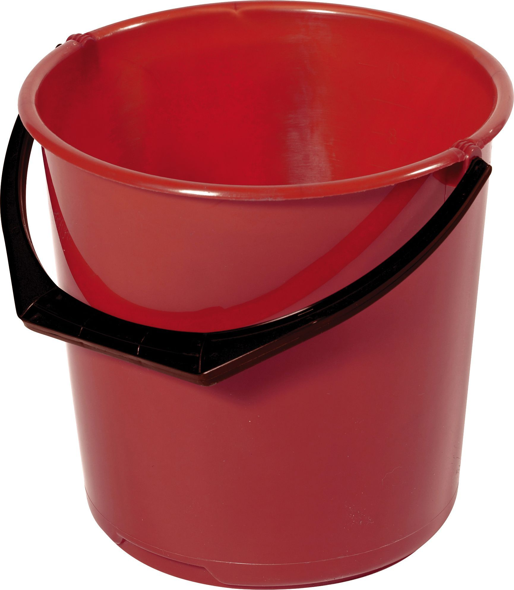 Bøtte plast 10L rød 11110300