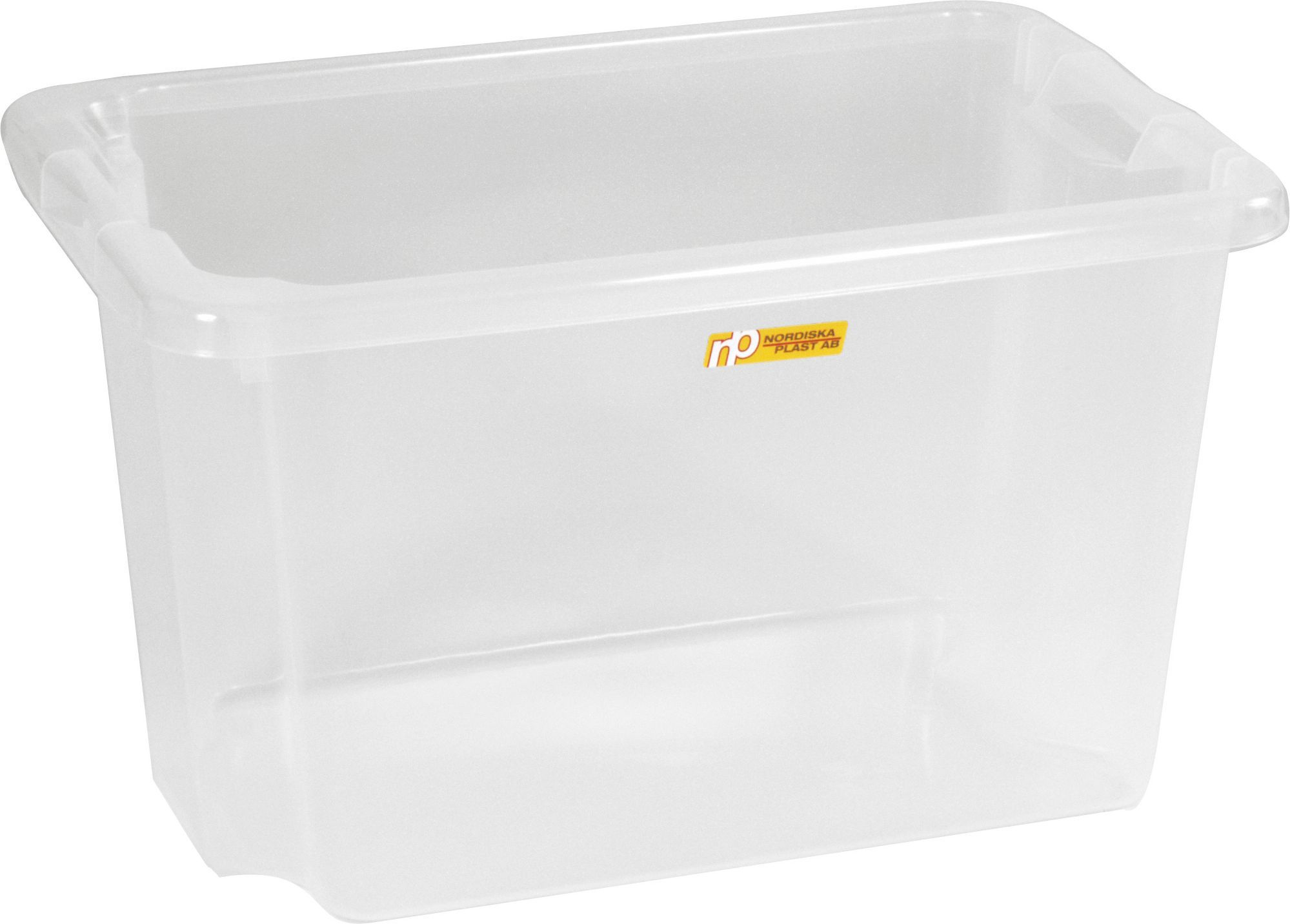Oppbevaringsboks 33L transparent plast 74000500