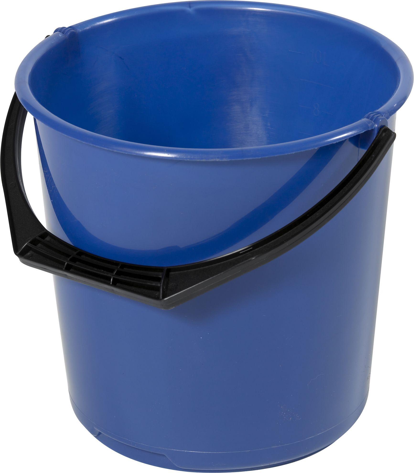 Bøtte plast 10L blå 11110600