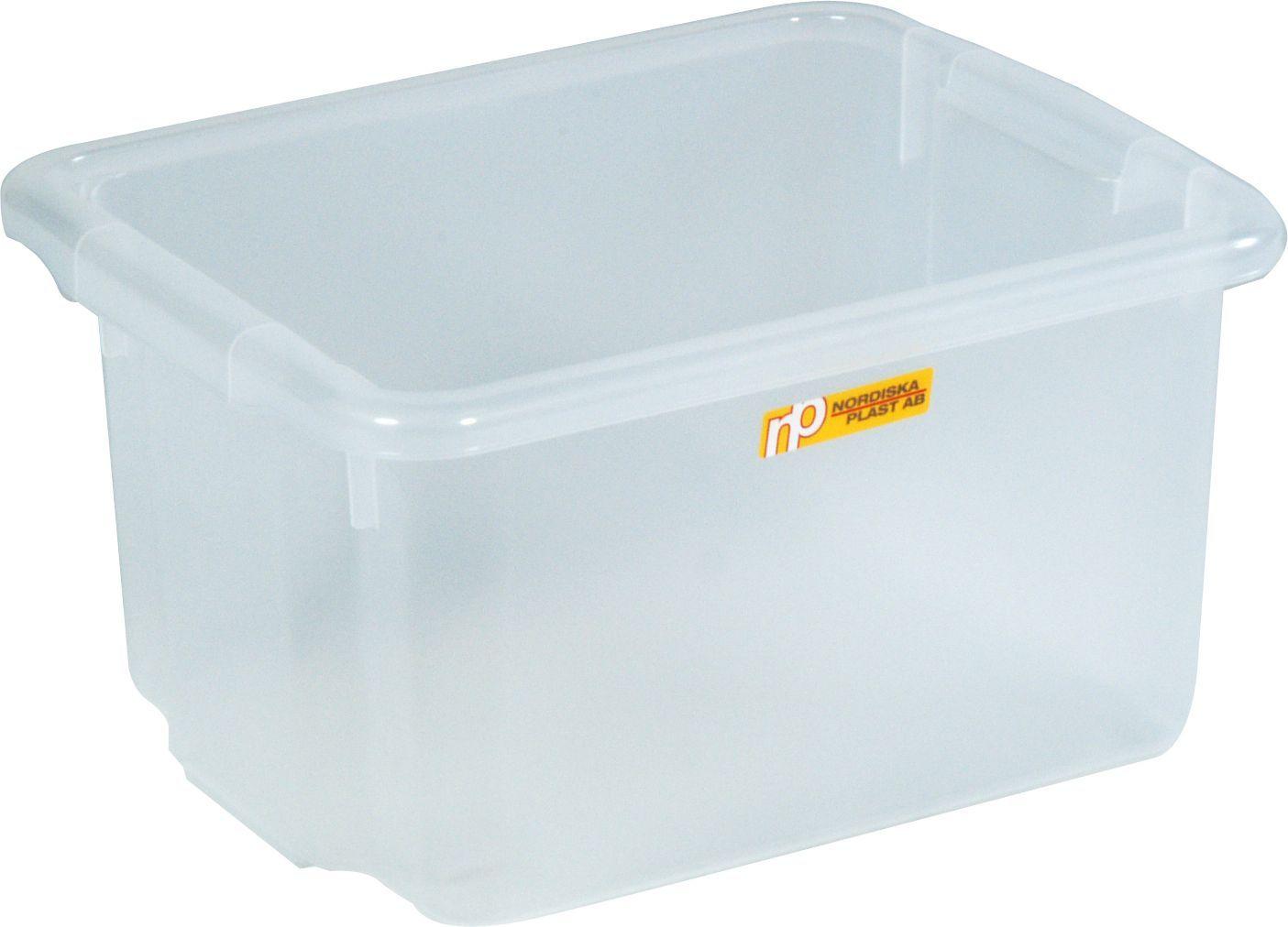 Oppbevaringsboks 23L transparent plast 72600500