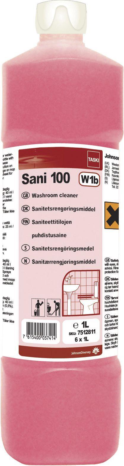 Taski Rengjøring Sani 100 1L 7512811