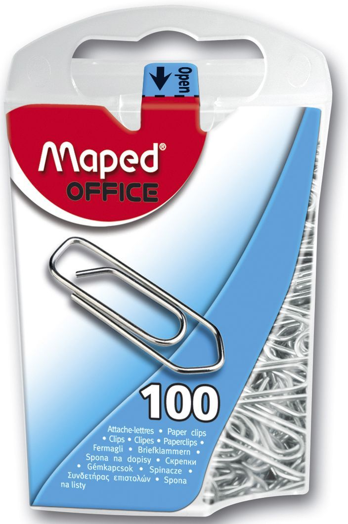 Maped Binders 25mm sølv (100) 320011 (Kan sendes i brev)