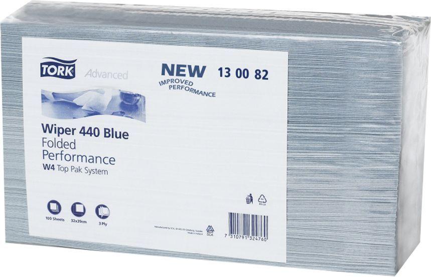 Tork Tørkeark Plus sterk 3L W4 blå (100) 130082