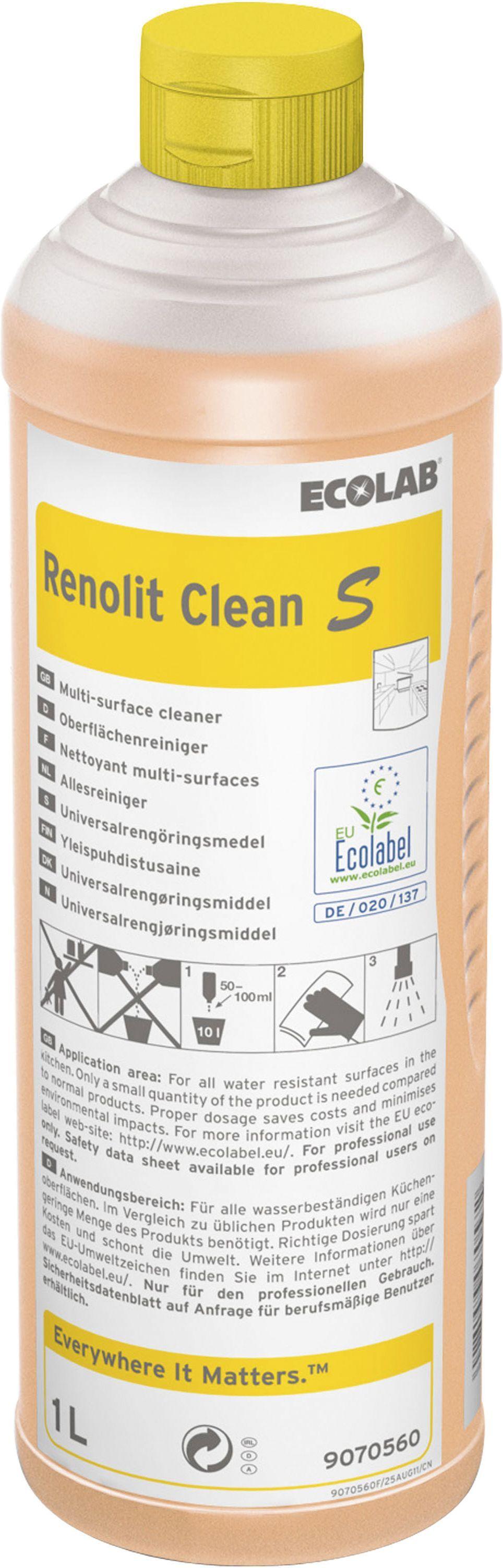 Ecolab Rengjøring Renolit Clean S 1 l 9070560