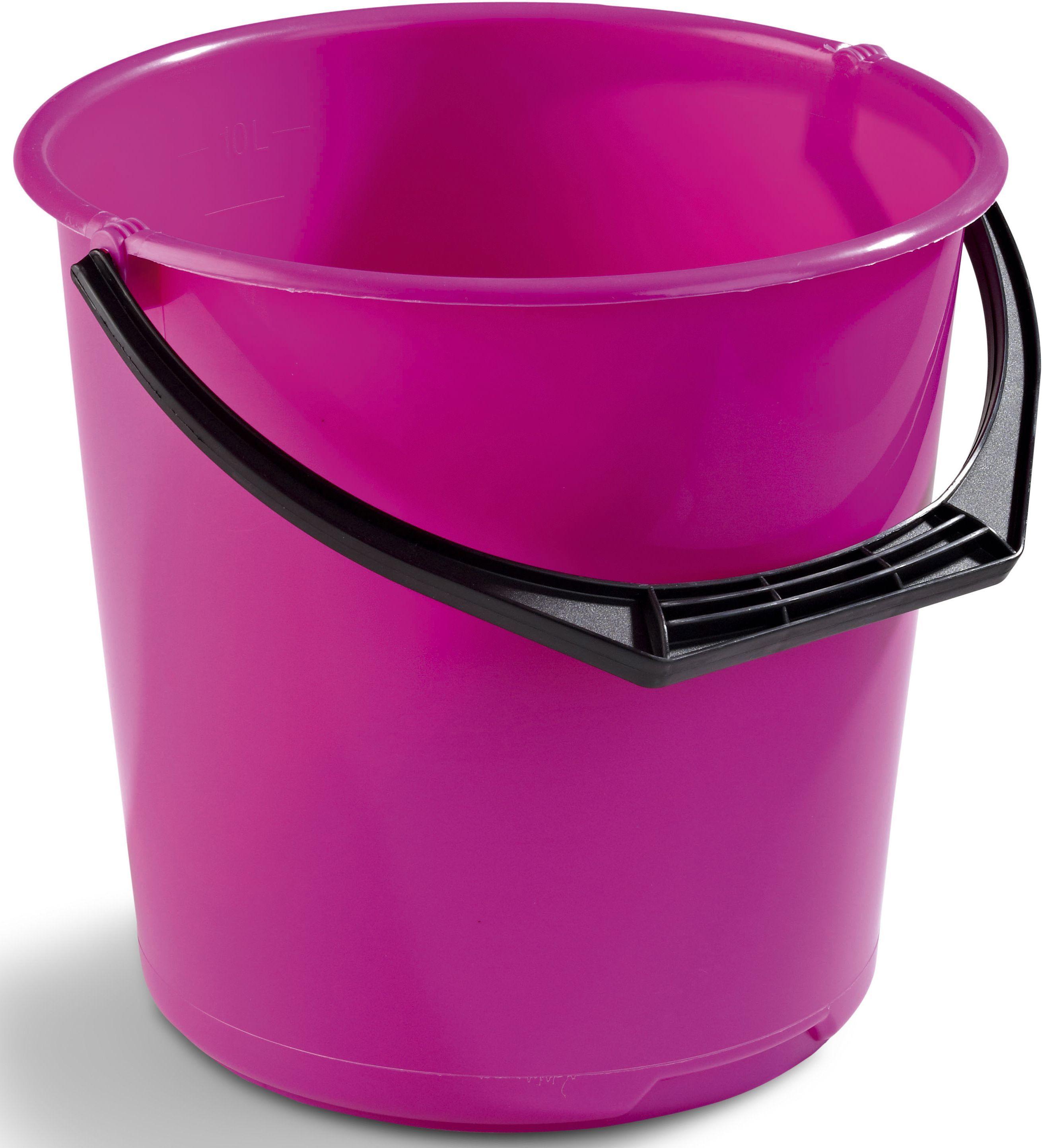 Bøtte plast 10L rosa 11111600