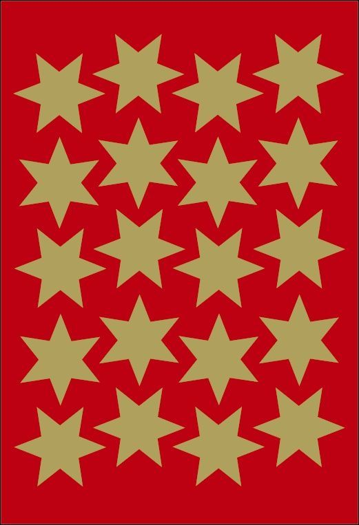Herma Etikett dekor gullstjerne ø24mm Y449830 (Kan sendes i brev)