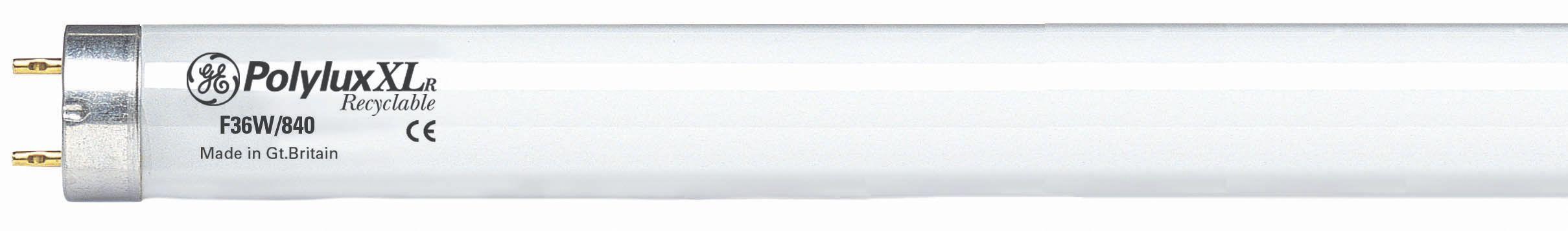 GE Lysrør fullfarge 18W/840 600mm hvit 93317