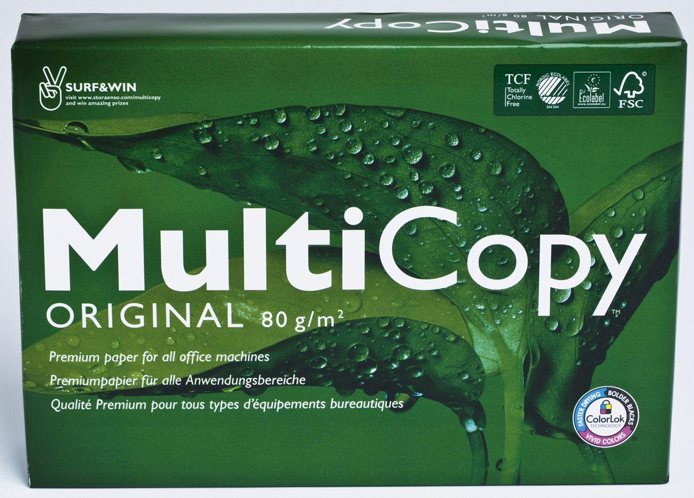 Multicopy Kopipapir Org A4 100g (bunt med 500 ark) 157091