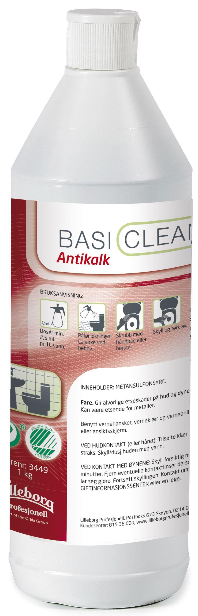 Basiclean Rengjøring antikalk 1L Y462299