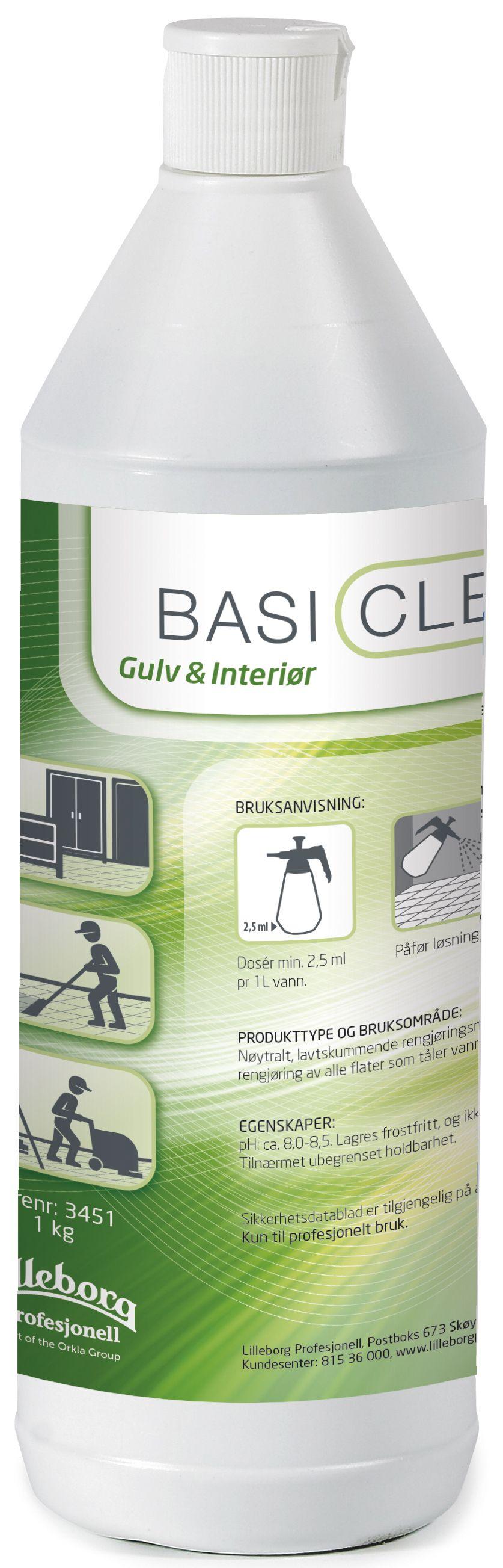 Basiclean Rengjøring gulv og interiør 1L Y462300