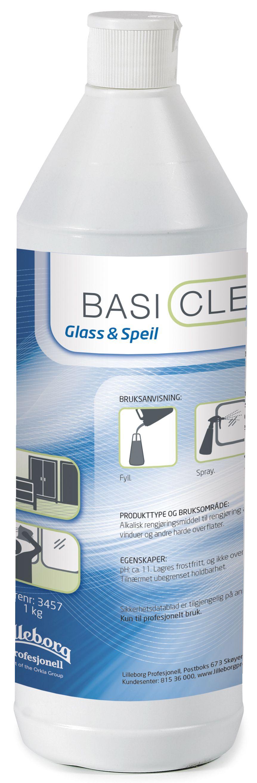 Basiclean Rengjøring glass og speil 1L Y462302