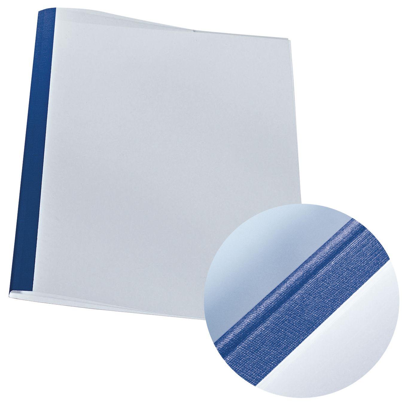 Leitz Liminnbindingsomslag 3mm blå/klar pk 25 (fp med 25 stk) 177119