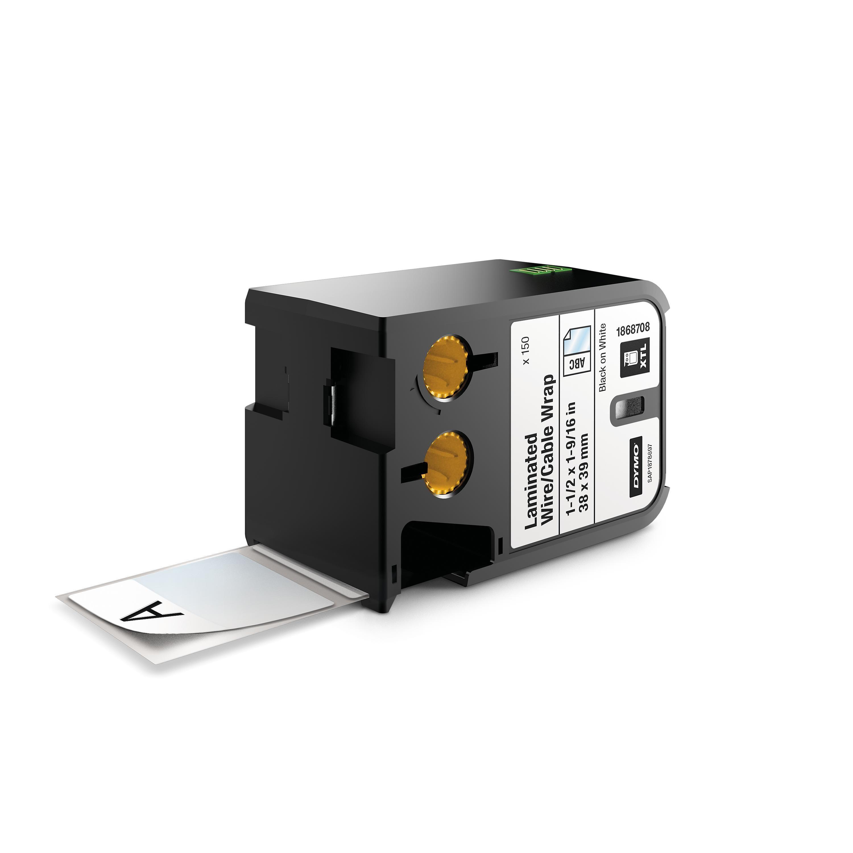 Dymo DirectLabel Etikett Sort på Hvit 38x39mm 150stk 1868708