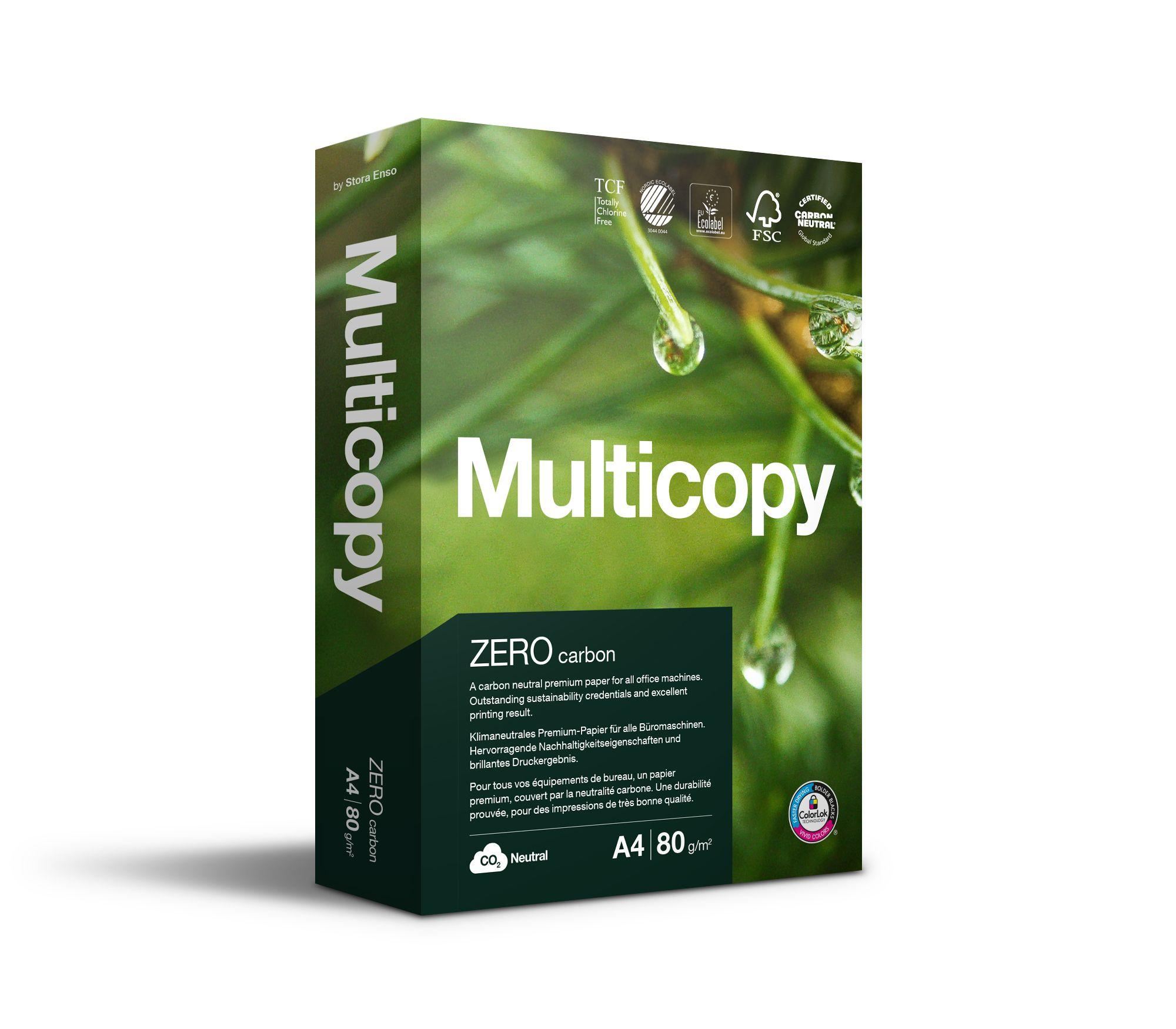 Multicopy kopipapir Zero, A4, 80g (bunt med 500 ark) 158001