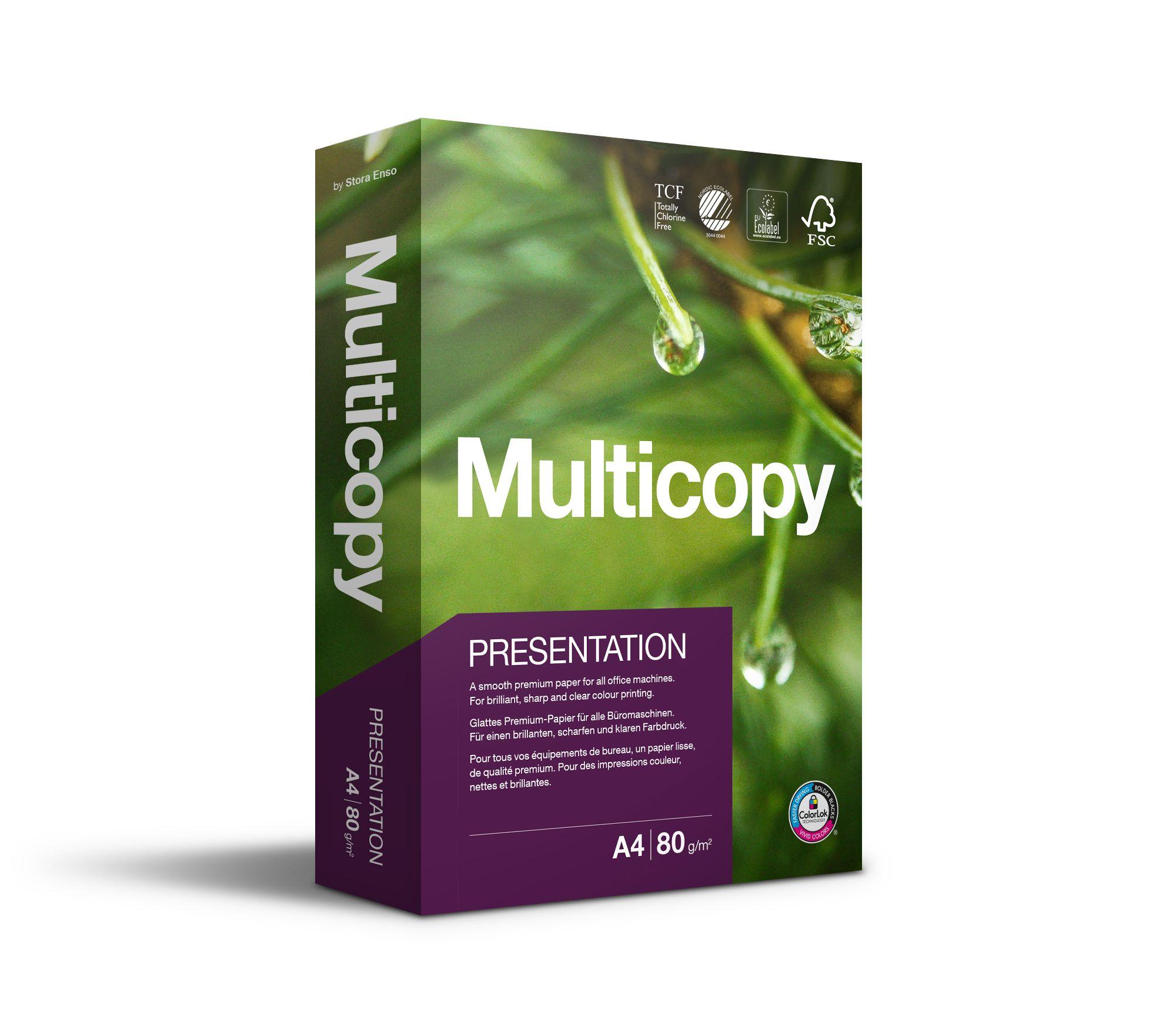 Multicopy kopipapir Presentation, A4, 80g (bunt med 500 ark) 172601