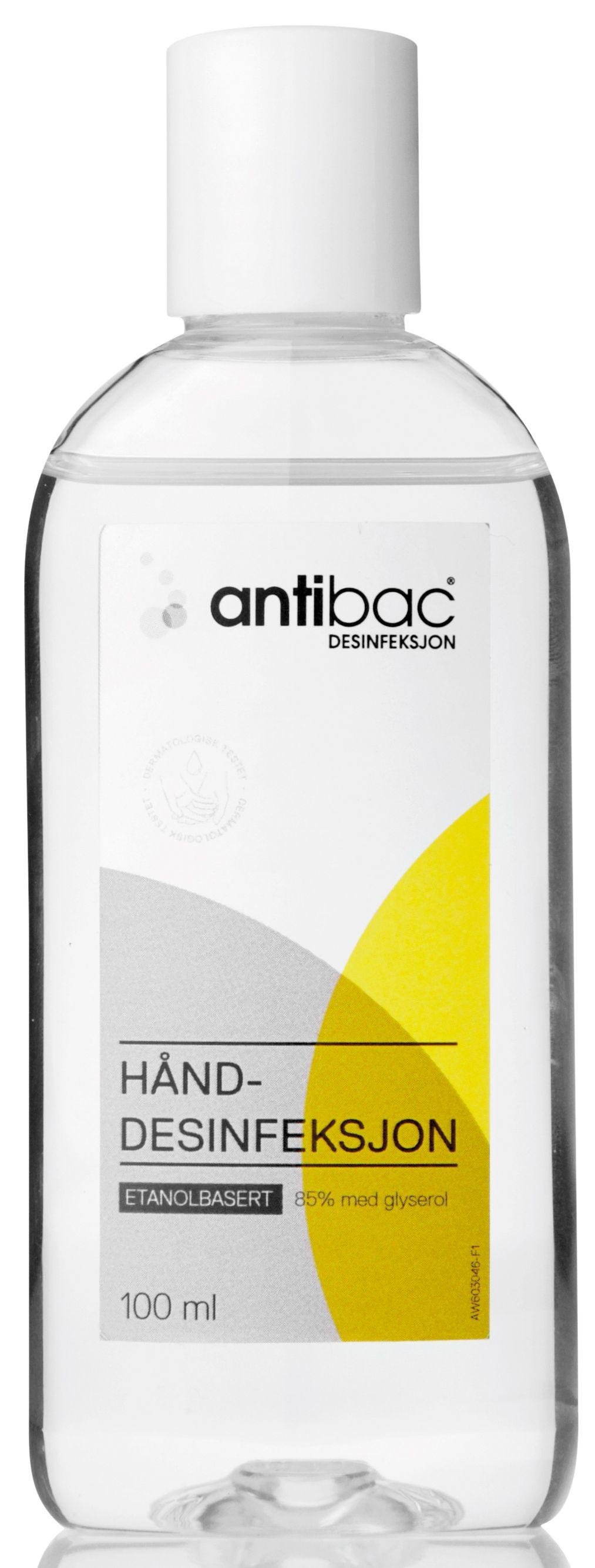 Antibac Hånddesinfeksjon 85% 100ml 603046 (Kan sendes i brev)