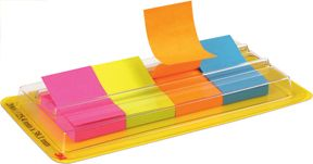 3M Post-it™ Indexmarkører 25,4mmx38,1mm 4 farger 7000042779