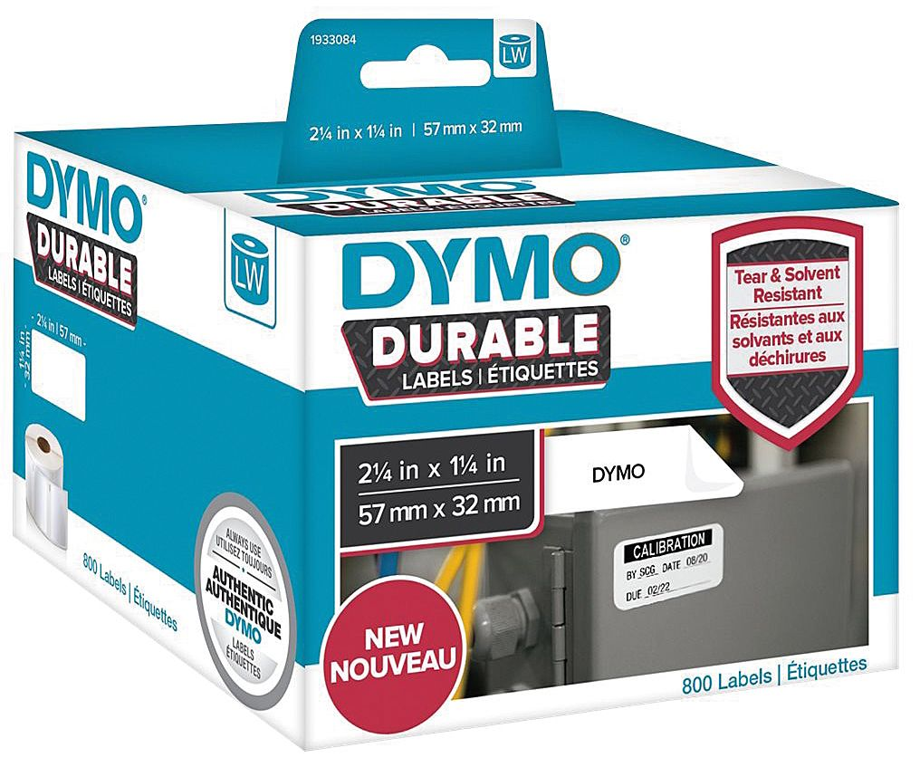 Dymo Etikett Durable 57mm x 32mm 800/FP 1933084 (Kan sendes i brev)