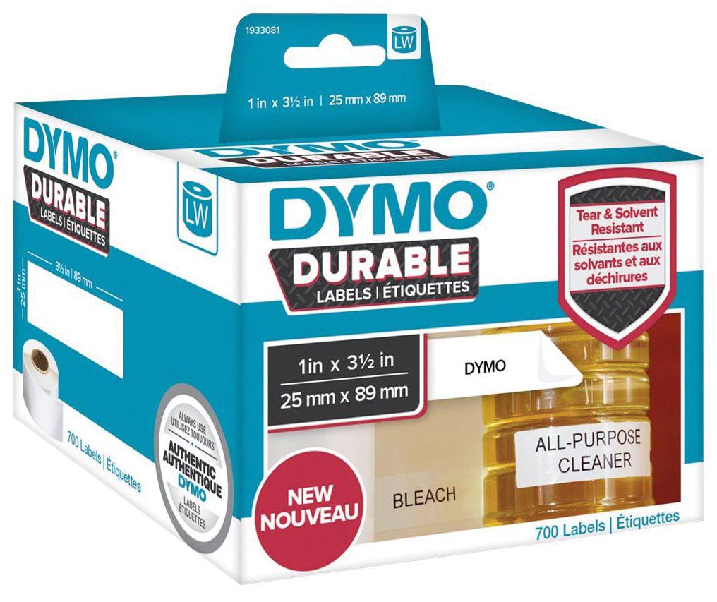 Dymo Etikett Durable 25mm x 89mm 700/FP 1933081 (Kan sendes i brev)