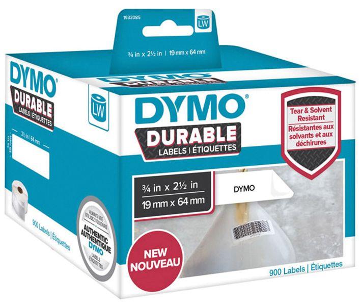 Dymo Etikett Durable 19mm x 64mm 900/FP 1933085 (Kan sendes i brev)