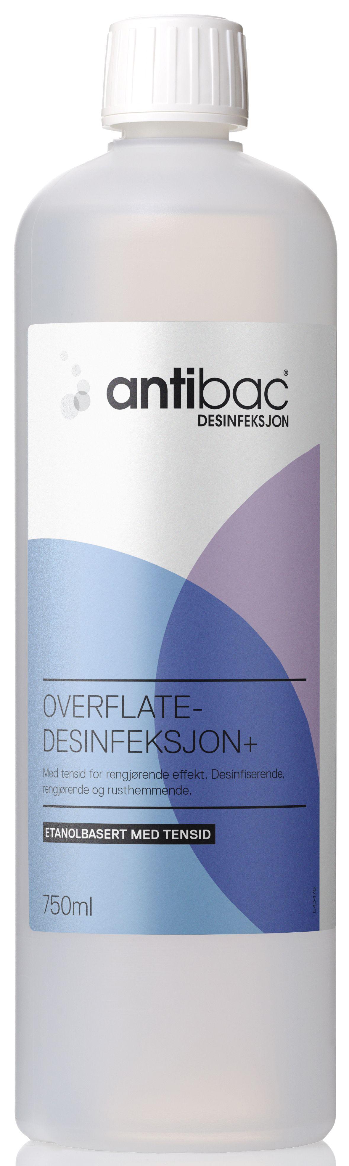 antibac Overflatedesinfeksjon ANTIBAC + 750ml, flaske med 750 ml 603000