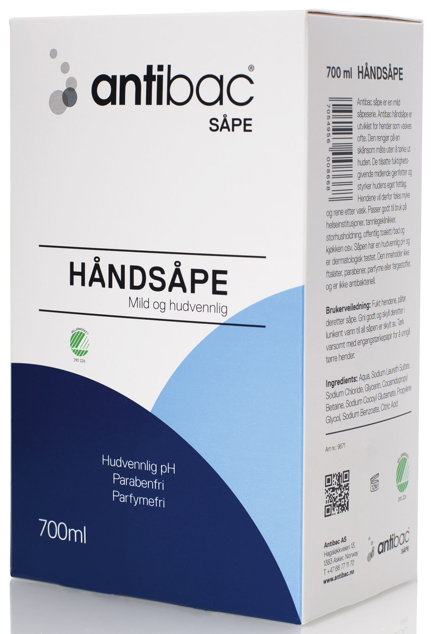Antibac Håndsåpe softbag 0,7L 600866 (Kan sendes i brev)