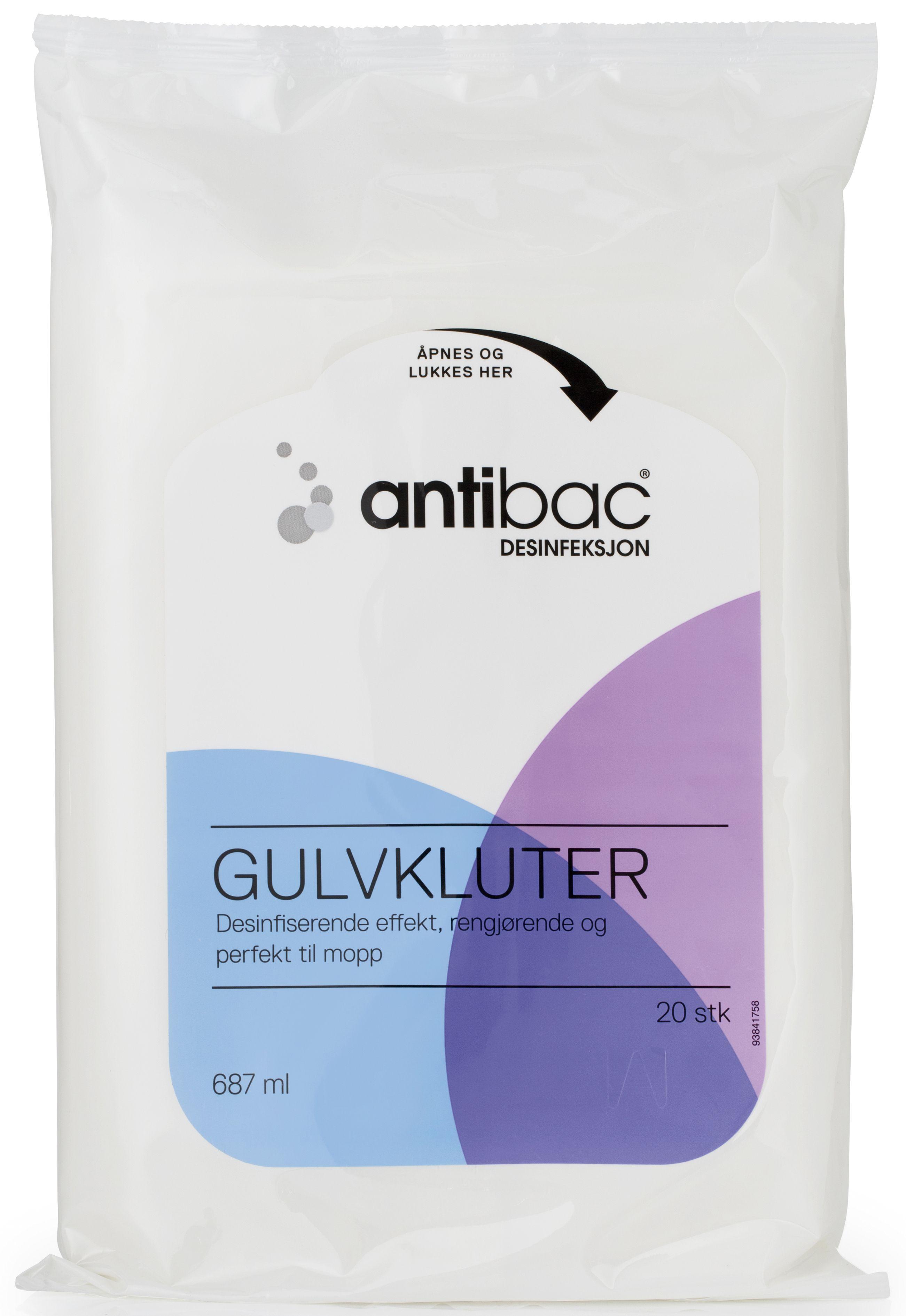 Antibac Overflatedesinfek. gulvklut (20) 601657