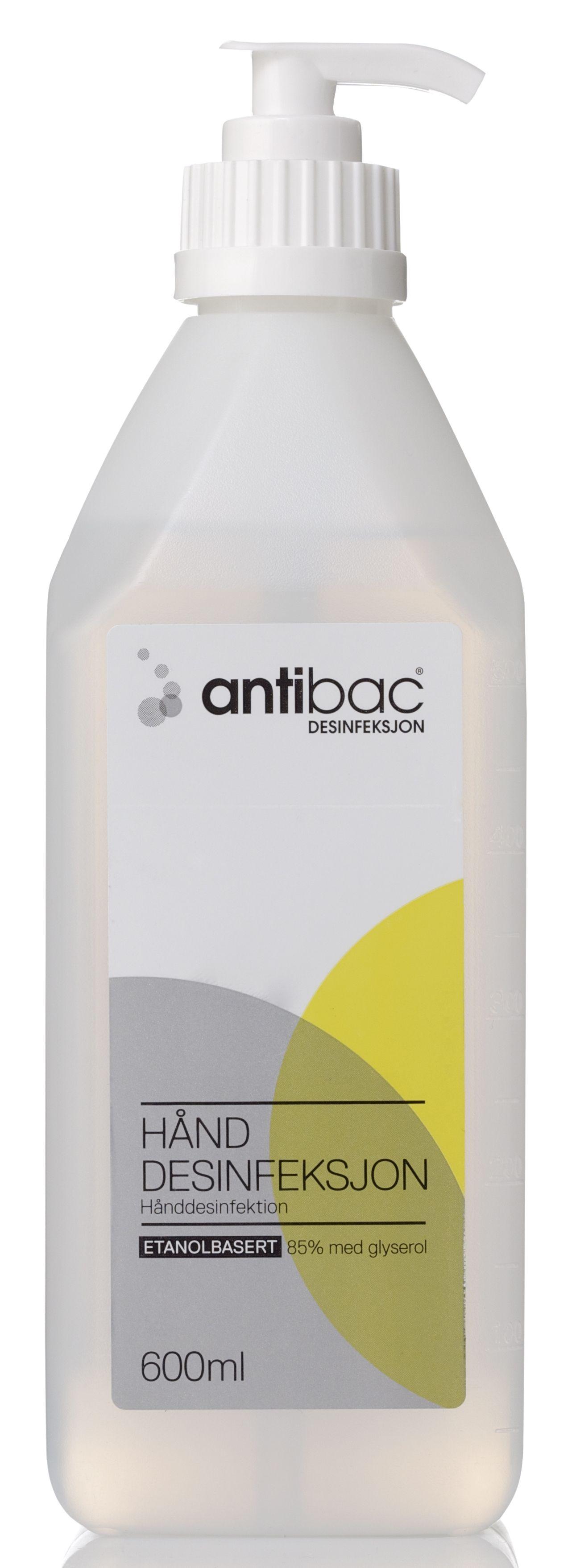 Antibac Hånddesinfeksjon 85% 600ml pumpe 601658